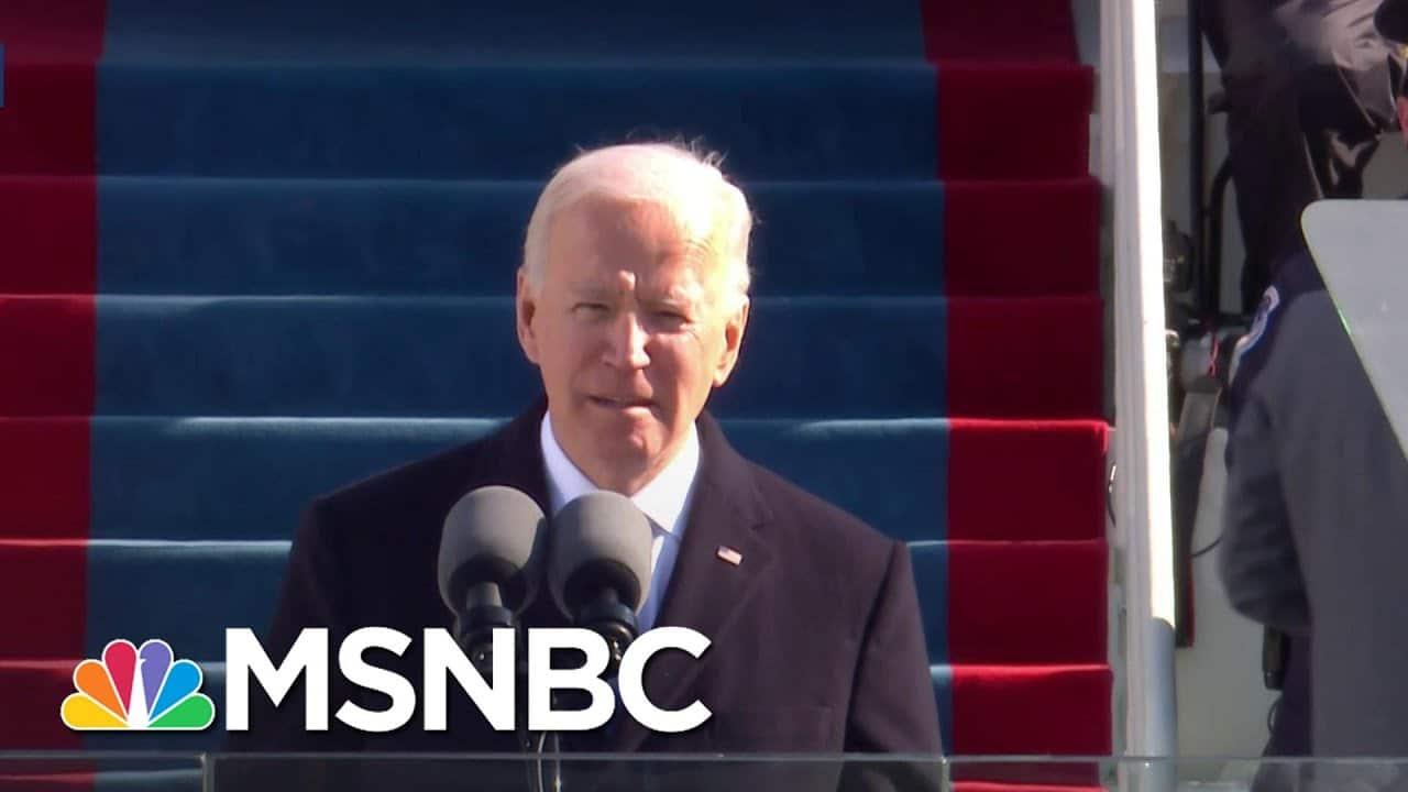 President Biden Delivers His Inaugural Address: 'Democracy Has Prevailed' | MSNBC 1
