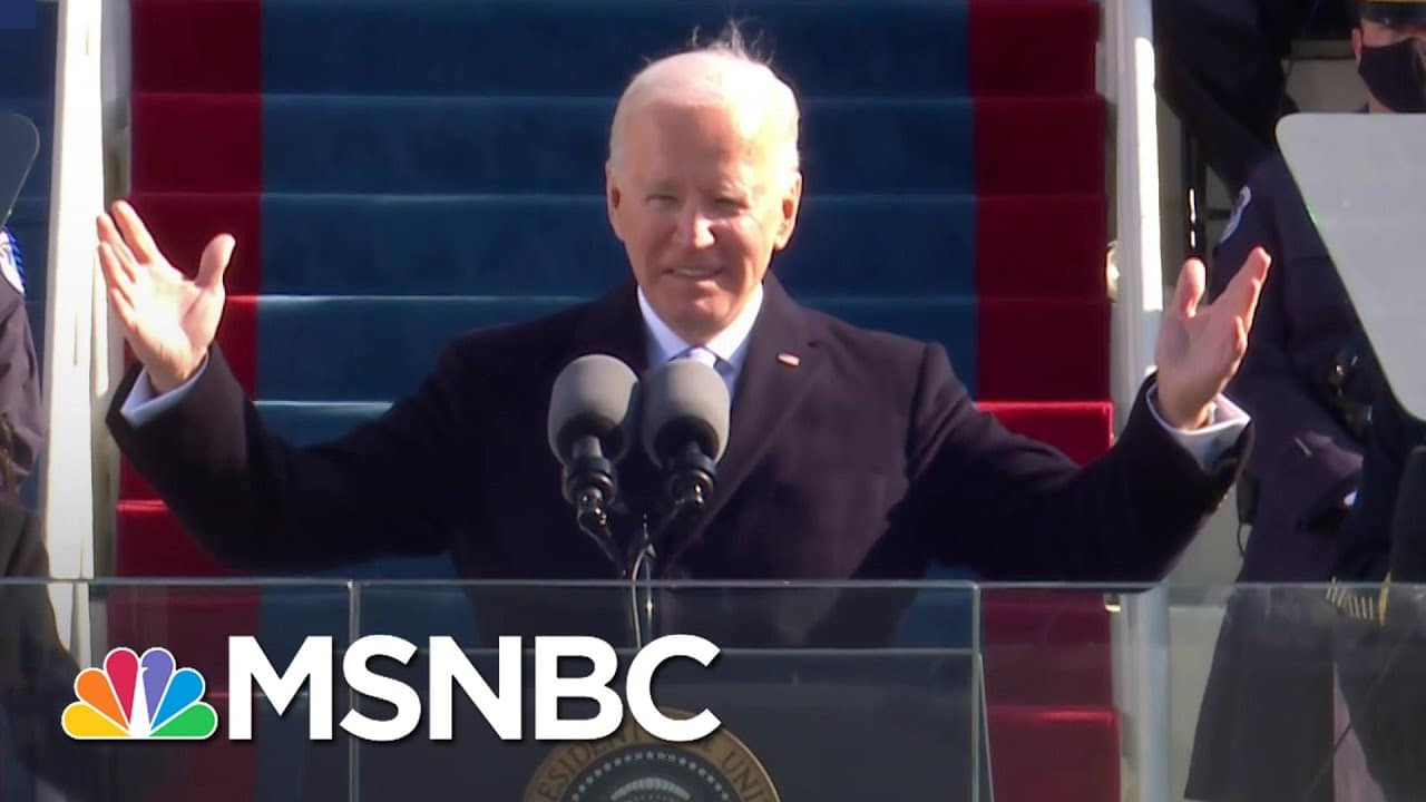President Biden's Inaugural Address: 'Democracy Has Prevailed' | MSNBC 1