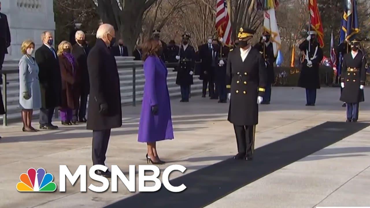 President Biden, Former Presidents Lay A Wreath At Arlington National Cemetery   MSNBC 1