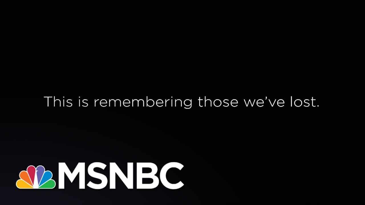 This Is Remembering Those We've Lost.   Eddie Glaude Jr.   MSNBC 1
