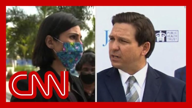 Exchange gets heated between Florida governor and CNN reporter 1