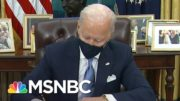 Biden Signs Executive Orders On Mask Mandate, Racial Equality And Rejoining Parris Accord | MSNBC 4