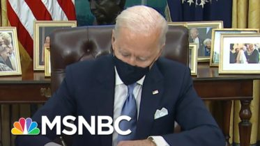 Biden Signs Executive Orders On Mask Mandate, Racial Equality And Rejoining Parris Accord | MSNBC 6