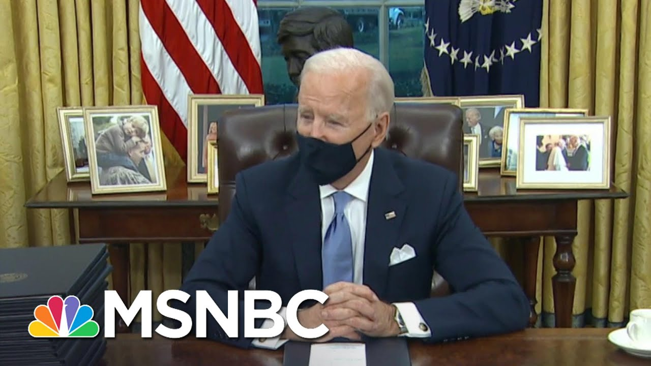 Biden Brings Personal Touch To Oval Office With 'Towering Figures From American History' | MSNBC 1