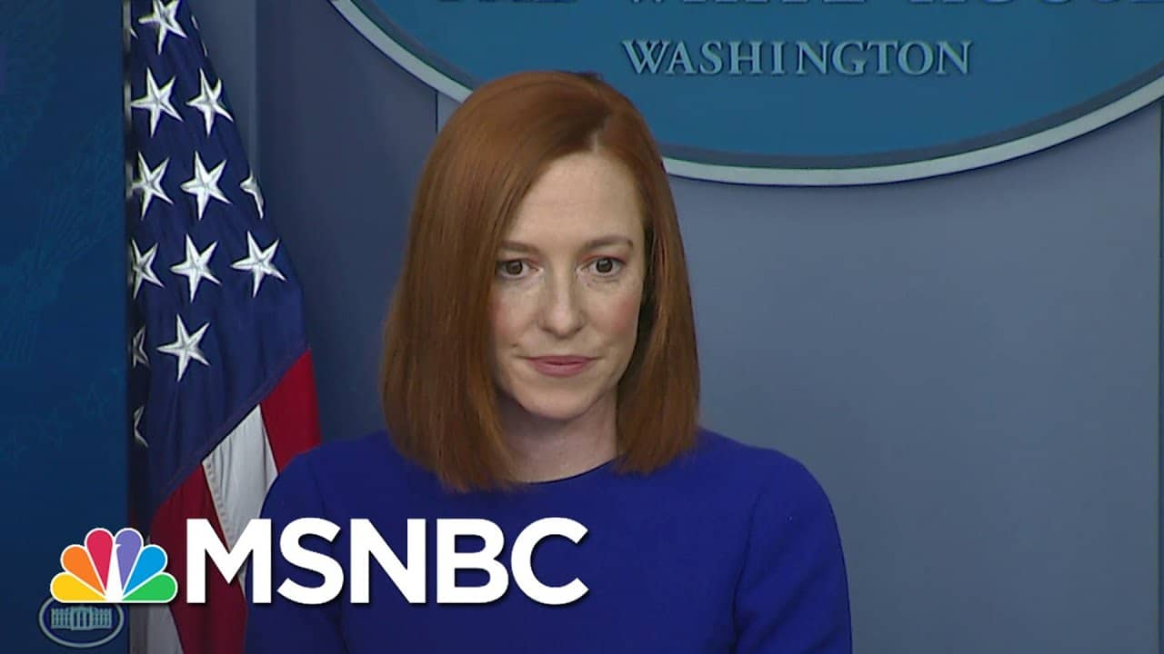 Jen Psaki: Biden's Objective Is To 'Bring Transparency And Truth Back To Government'   MSNBC 1