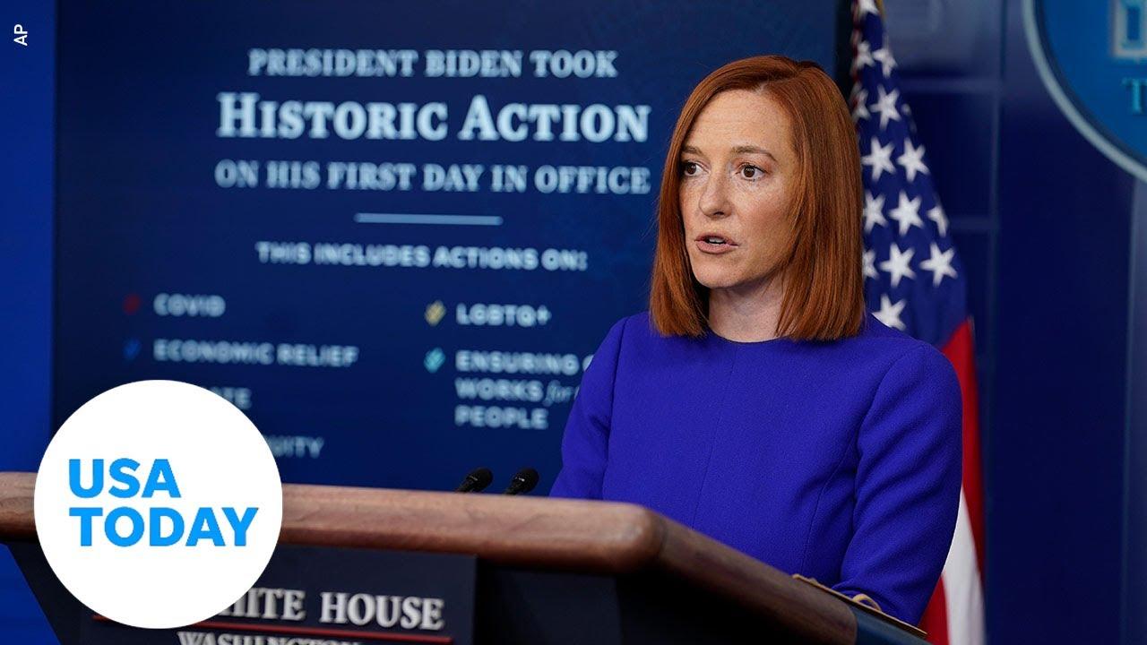 Press Secretary Jen Psaki holds first White House briefing of Biden's presidency | USA TODAY 1