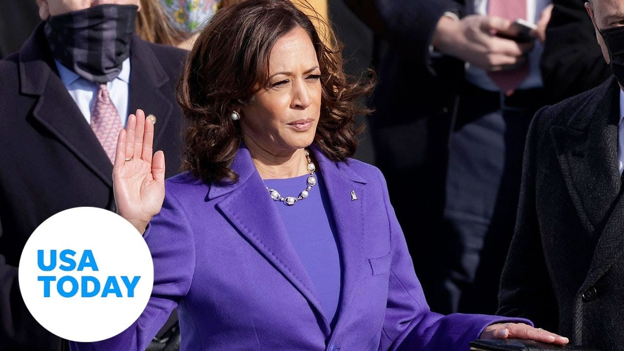 Kamala Harris takes oath of office to become first female Vice President in US history | USA TODAY 1