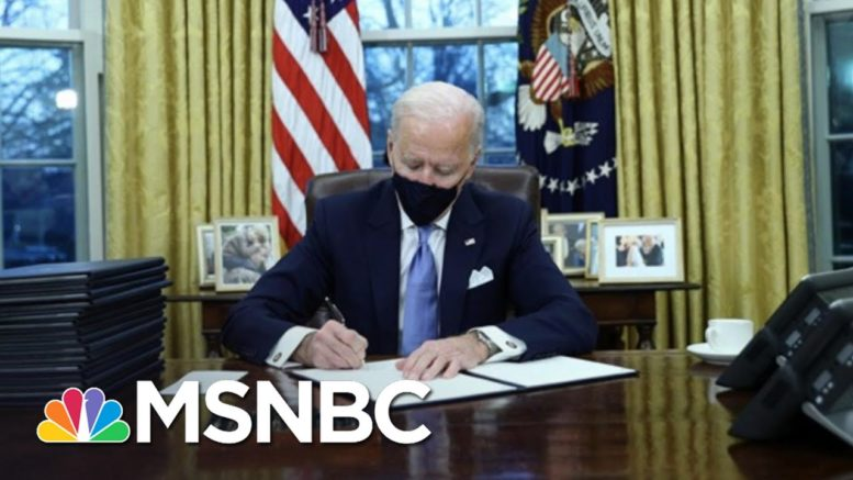 Biden Gets To Work Undoing Trump Policies After Inauguration | The 11th Hour | MSNBC 1
