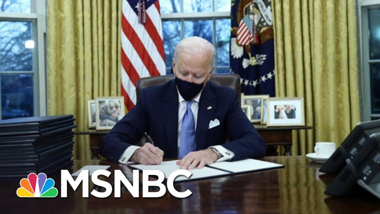 Biden Gets To Work Undoing Trump Policies After Inauguration | The 11th Hour | MSNBC 6