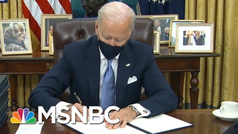 Biden Admin Begins Immediate Coronavirus Policy Overhaul | Rachel Maddow | MSNBC 1