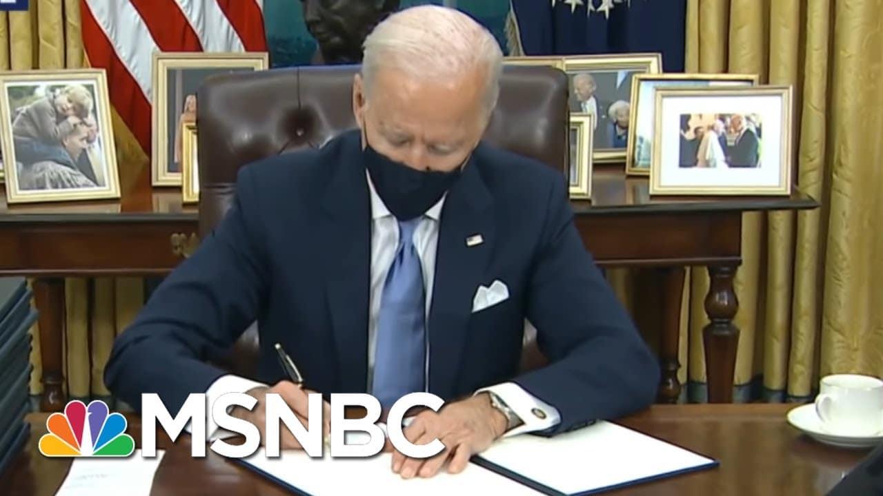 Biden Admin Begins Immediate Coronavirus Policy Overhaul   Rachel Maddow   MSNBC 9