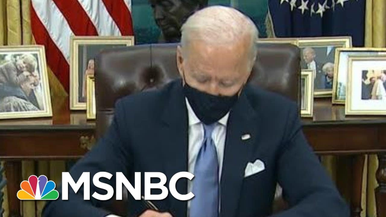 Biden Signs Executive Orders; Set To Announce National Covid Strategy   Morning Joe   MSNBC 8