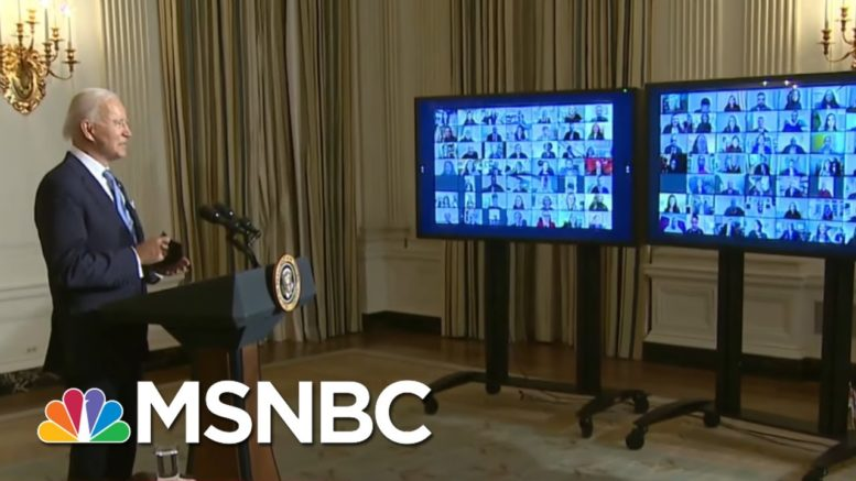 President Biden Swears In Day One Appointees In Virtual Ceremony | MSNBC 1