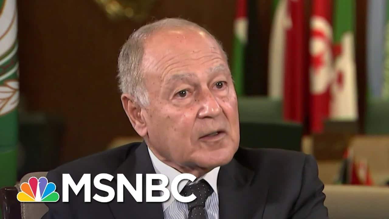 Head Of Arab League Warns Joe Biden: 'Do Not Toy With The Region' | Ayman Mohyeldin | MSNBC 4