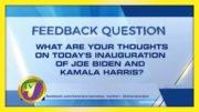 TVJ News: Feedback Question - January 20 2021 2