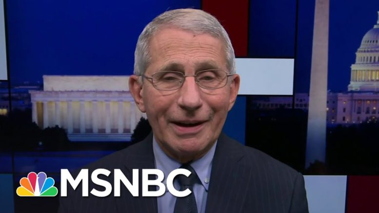 Fauci: Single Dose Vaccine Likely Only Two Weeks Away From FDA Application | Rachel Maddow | MSNBC 1