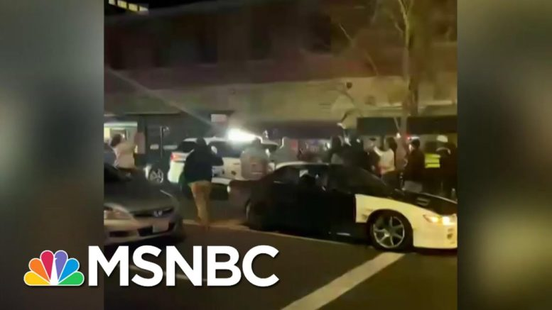 Tacoma Police Car Olows Into Group In Downtown Area | MSNBC 1