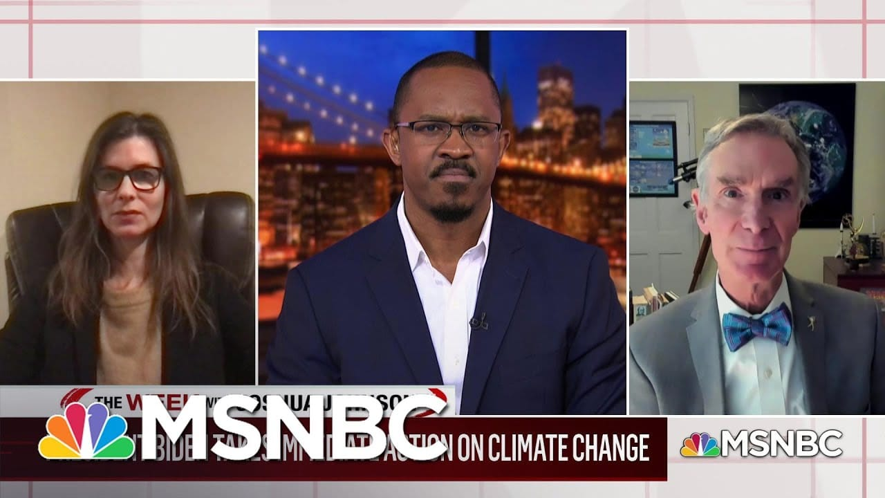 Breaking Down the Biden Administration's Climate Change Plan Of Action With Bill Nye   MSNBC 1