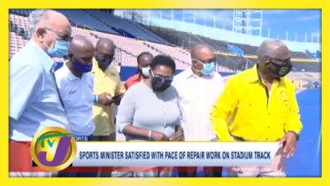 Sports Minister Satisfied with Pace of Repair work on Stadium Track - January 24 2021 5