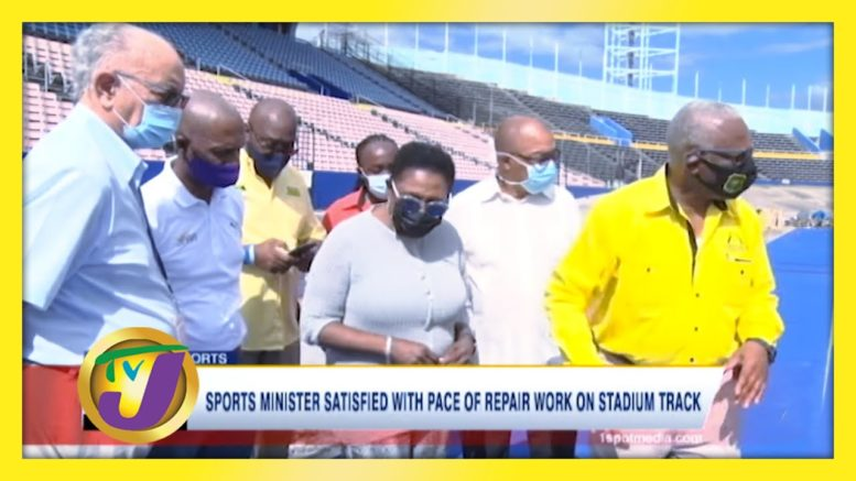 Sports Minister Satisfied with Pace of Repair work on Stadium Track - January 24 2021 1