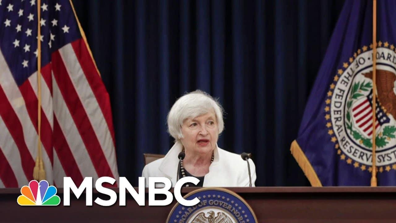 Vice President Harris Swears In Janet Yellen As Treasury Secretary | Andrea Mitchell | MSNBC 4