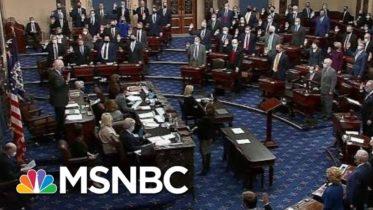 Senators Sworn-In For Second Trump Impeachment Trial   MSNBC 6