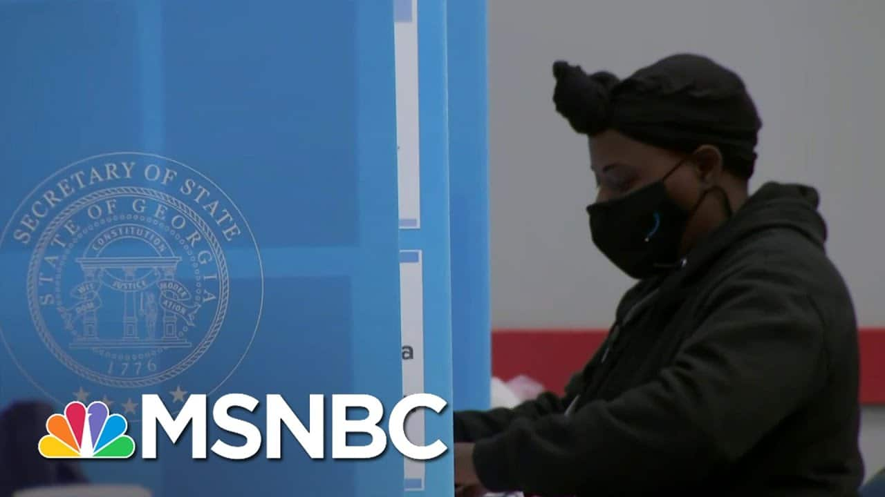 Georgia Bureau Of Investigation Looking Into 'Specific Threats' Regarding Election | Andrea Mitchell 6