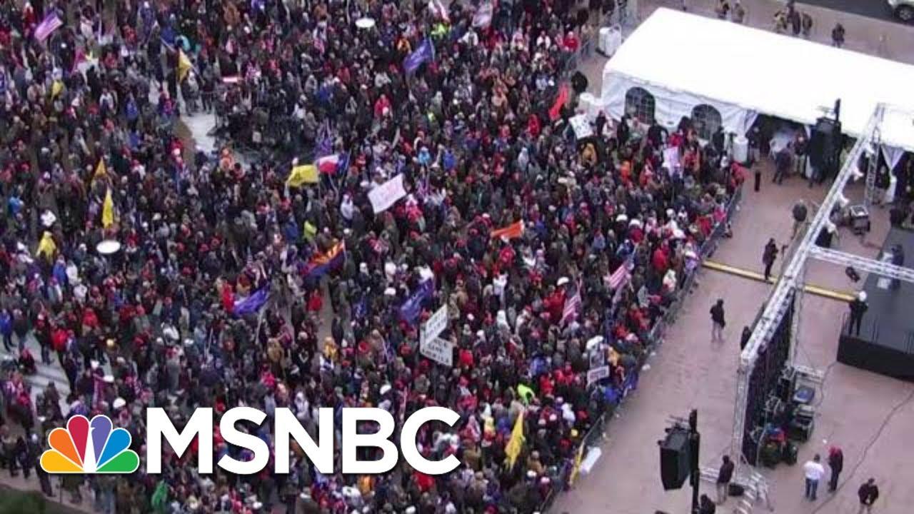 Pro-Trump Rallies Begin In DC Ahead Of Certification Of Biden Win | MTP Daily | MSNBC 4