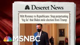 Sen. Romney Takes On GOP Who Make False Election Claims | Morning Joe | MSNBC 6