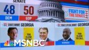 Georgia Runoffs Too Close To Call, NBC News Projects | MSNBC 3