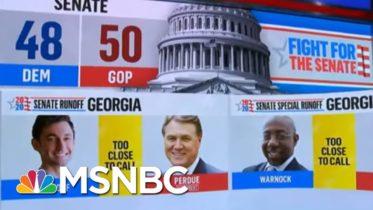 Georgia Runoffs Too Close To Call, NBC News Projects | MSNBC 6