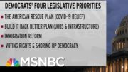 Why Dems Get Only Two Chances At Major Legislation This Year (Unless...) | Rachel Maddow | MSNBC 3