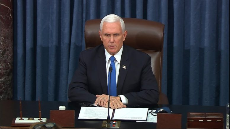 Mike Pence speaks after pro-Trump rioters storm U.S. Capitol: 'Unprecedented violence and vandalism' 1