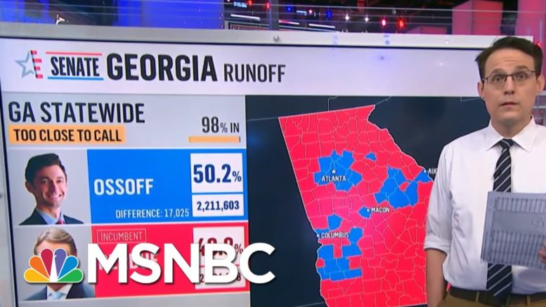 GA Election Official Predicts Ossoff May Gain Lead Outside Of Recount Percentage | Hallie Jackson 1