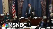 Vice President Mike Pence Appears To Be Escorted Out Of The Senate Chamber | MTP Daily | MSNBC 3