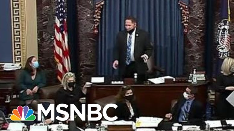 Vice President Mike Pence Appears To Be Escorted Out Of The Senate Chamber | MTP Daily | MSNBC 1