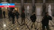 Rioters Walk Through Capitol Building, Statuary Hall Outside of House Chamber | MSNBC 4
