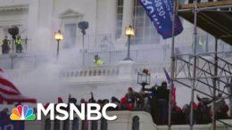 Flash Grenades, Tear Gas Deployed On Exterior Capitol Balcony   MSNBC 1