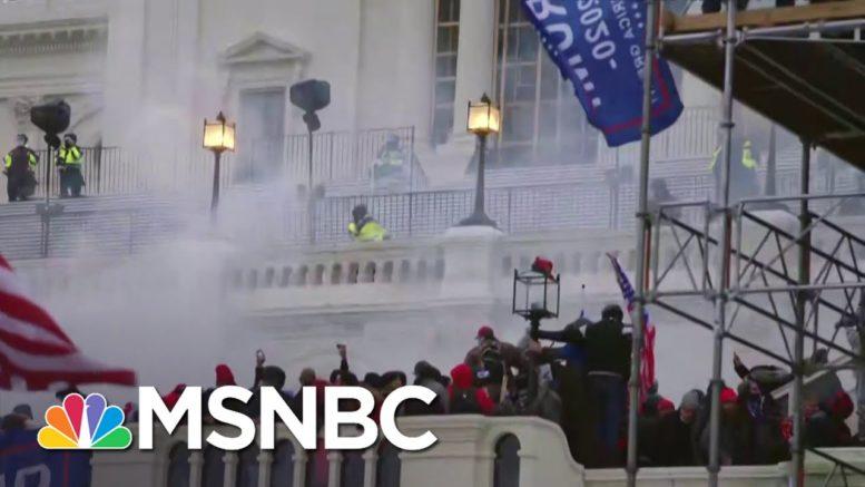 Flash Grenades, Tear Gas Deployed On Exterior Capitol Balcony | MSNBC 1