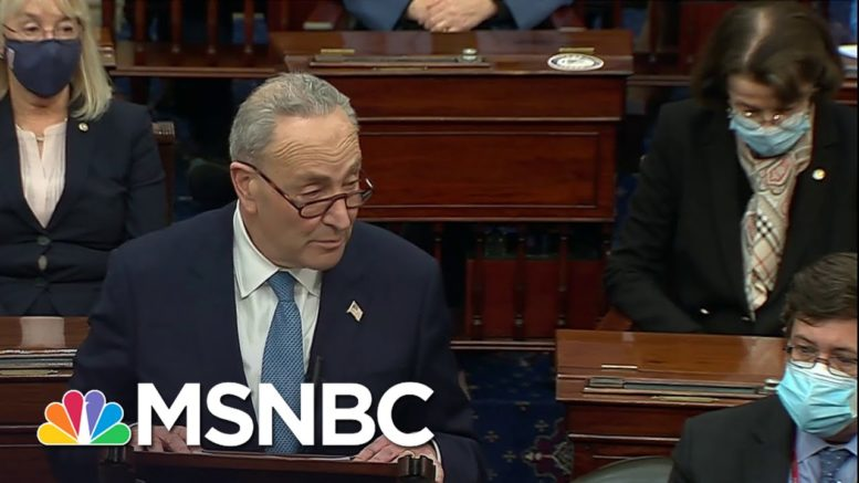 Mcconnell, Schumer Vow To Finish Electoral College Certification As Senate Reconvenes In Chamber 1