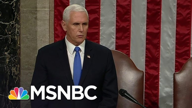 Congress Affirms Biden As President After Completing Electoral Vote Count | MSNBC 1