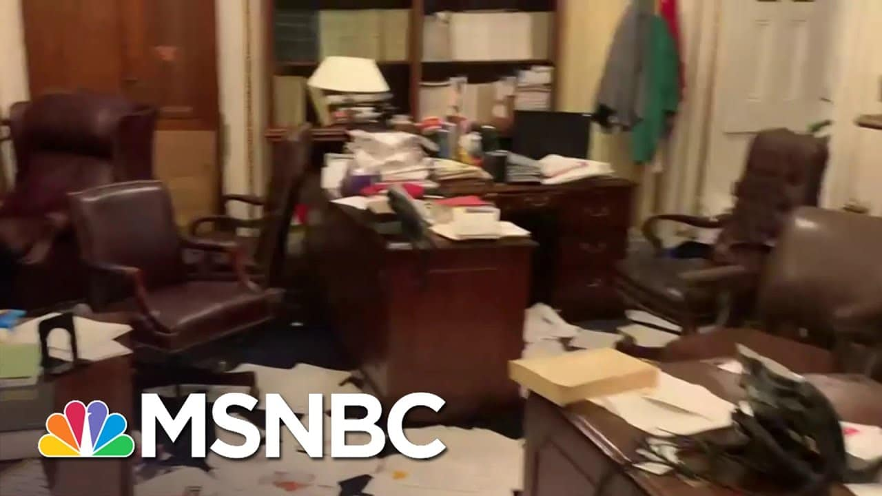 Debris And Damage Remains After Pro-Trump Rioters Breached The Capitol | Stephanie Ruhle | MSNBC 2