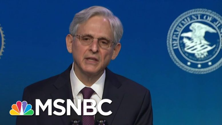 Merrick Garland Delivers Remarks As Biden's Nominee For Attorney General | MSNBC 1
