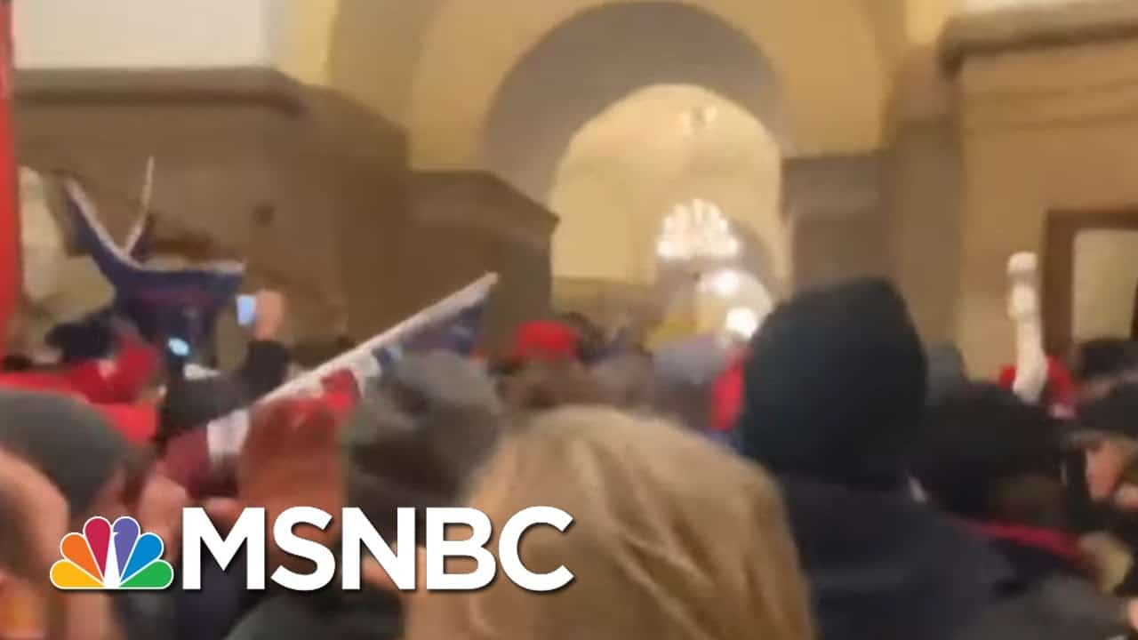 First Federal Charges Filed For Capitol Rioting Yesterday   MTP Daily   MSNBC 1