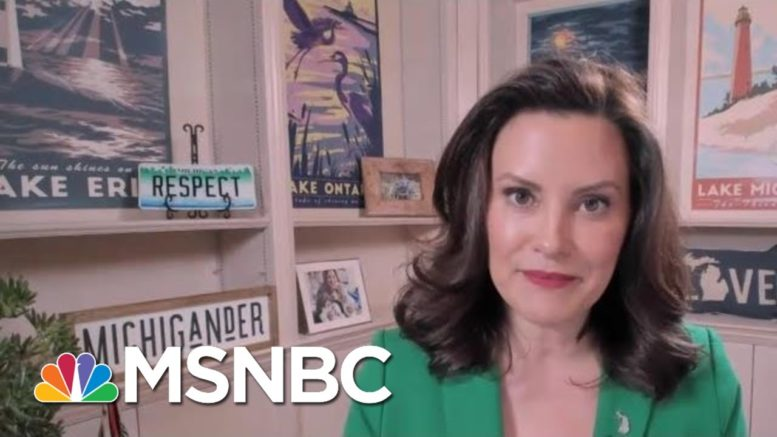 Gov. Whitmer On Warning Against Potential Violence: 'Nobody Did A Darn Thing' | MTP Daily | MSNBC 1