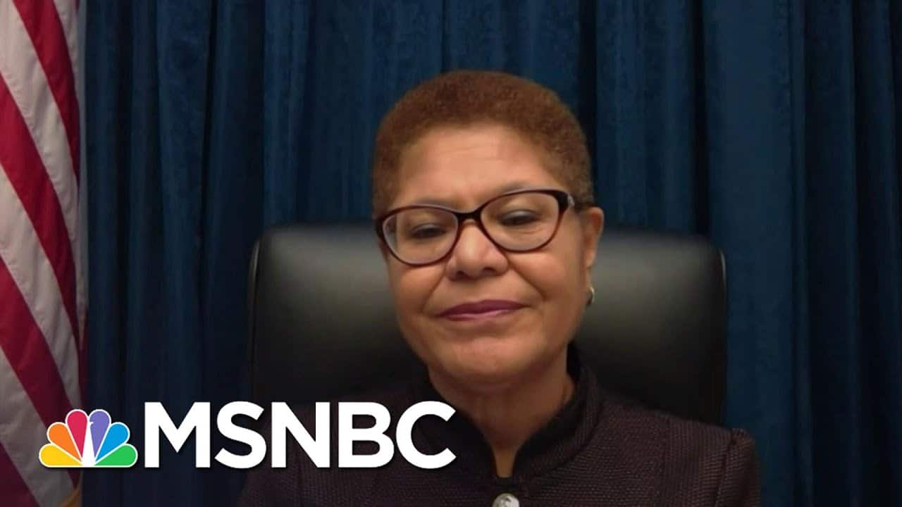 Rep. Karen Bass Can Only Imagine If 'They Had Been Black Lives Matter Protests' | Deadline | MSNBC 1
