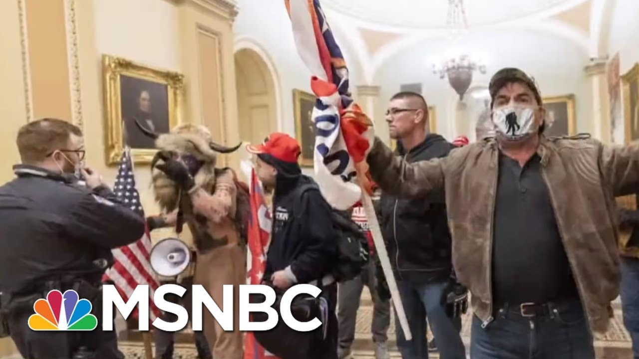 Violent Attack On U.S. Capitol A Win In Trump's Eyes As Republican Support Holds   Rachel Maddow 1