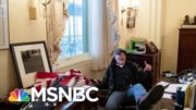 Man With Foot Up On Desk In Pelosi's Office At Capitol Arrested | MTP Daily | MSNBC 3
