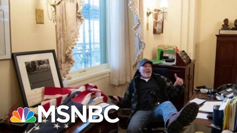 Man With Foot Up On Desk In Pelosi's Office At Capitol Arrested | MTP Daily | MSNBC 1