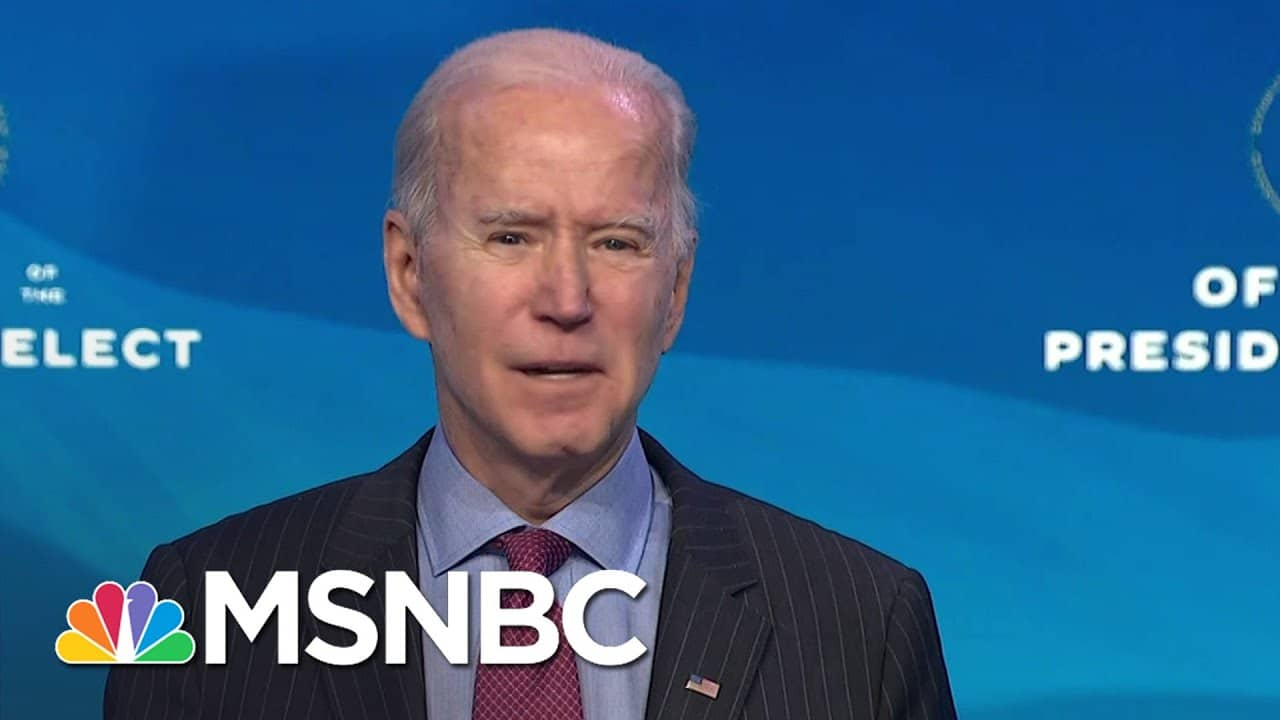 Biden Considered Sanders For Labor Secretary But 'Can't Put Control Of The Senate At Risk'   MSNBC 1